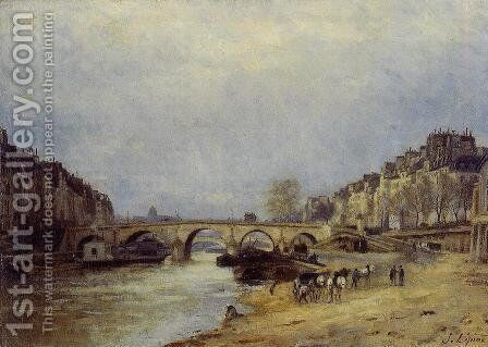 The Seine at Pont Marie by Stanislas Lepine - Reproduction Oil Painting