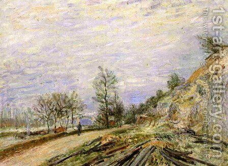 On the Road from Moret by Alfred Sisley - Reproduction Oil Painting