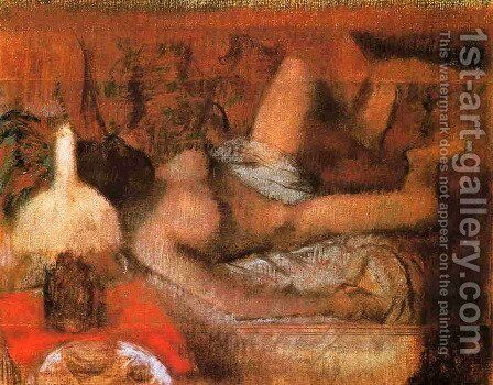 Reclining Nude by Edgar Degas - Reproduction Oil Painting