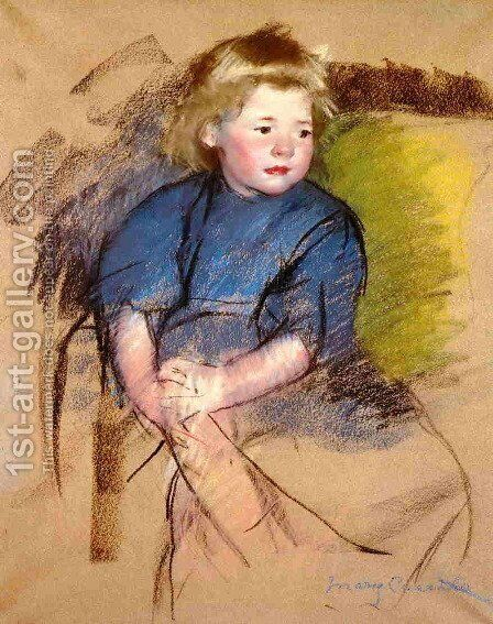 Portrait of a Young Girl (Simone) by Mary Cassatt - Reproduction Oil Painting