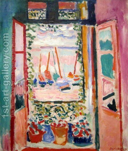 Open window at Collioure by Henri Matisse - Reproduction Oil Painting