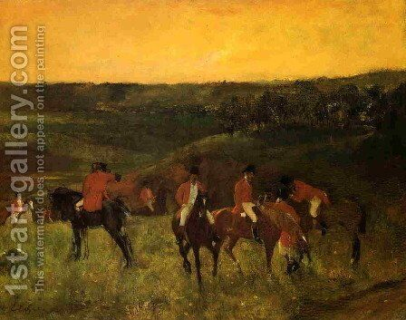 The Start of the Hunt by Edgar Degas - Reproduction Oil Painting