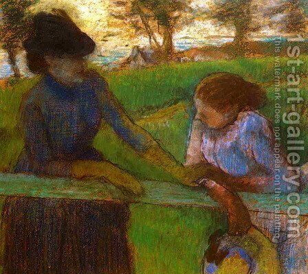The Conversation by Edgar Degas - Reproduction Oil Painting