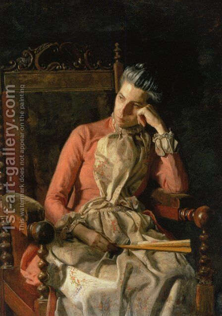 Portrait of Amelia C Van Buren by Thomas Cowperthwait Eakins - Reproduction Oil Painting