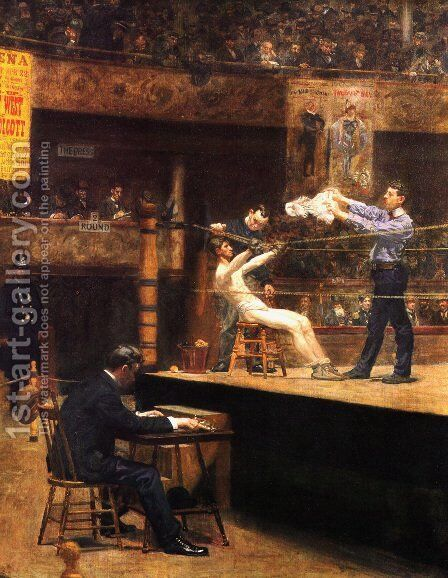 Between Rounds by Thomas Cowperthwait Eakins - Reproduction Oil Painting