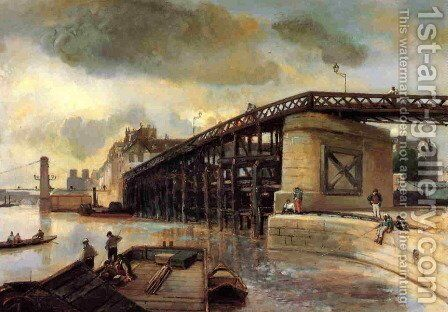 Le Pont de l'Estacade by Johan Barthold Jongkind - Reproduction Oil Painting