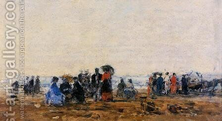 Beach Scene III by Eugène Boudin - Reproduction Oil Painting