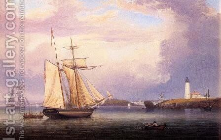 Drying Sails off Ten Pound Island by Fitz Hugh Lane - Reproduction Oil Painting