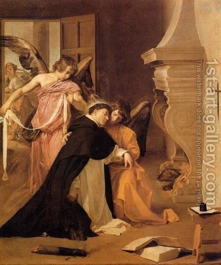 The Temptation of St. Thomas Aquinas by Velazquez - Reproduction Oil Painting