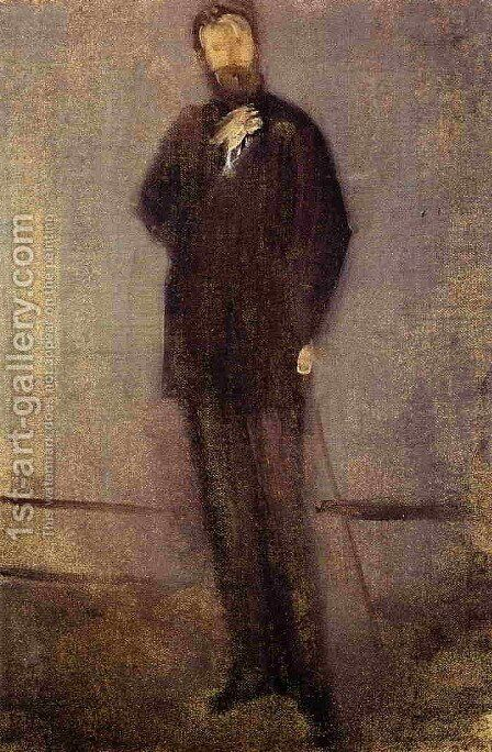 Study for the Portrait of F. R. Leyland by James Abbott McNeill Whistler - Reproduction Oil Painting