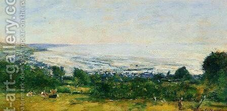 The Trouville Heights by Eugène Boudin - Reproduction Oil Painting