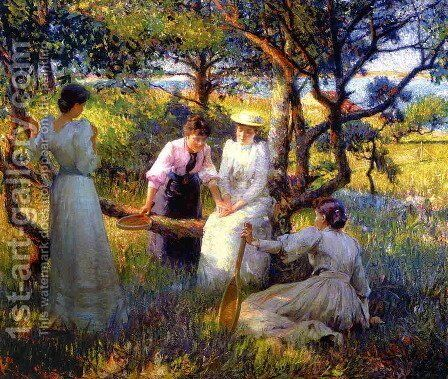 The Ring by Robert William Vonnoh - Reproduction Oil Painting