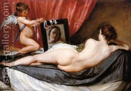 A Venus at Her Mirror by Velazquez - Reproduction Oil Painting