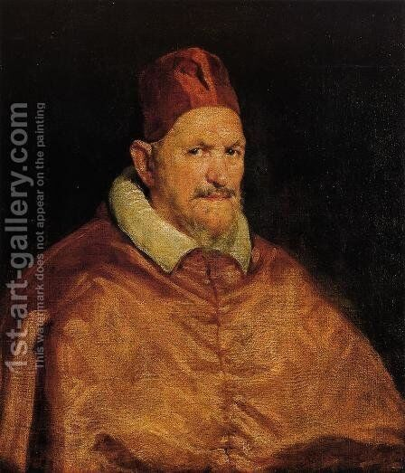 Pope Innocent X I by Velazquez - Reproduction Oil Painting
