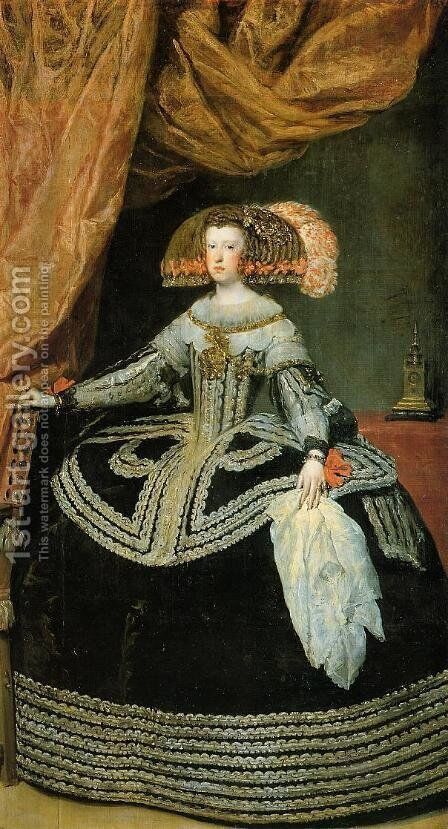 Queen Mariana by Velazquez - Reproduction Oil Painting