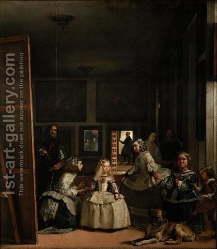 Velazquez and the Royal Family by Velazquez - Reproduction Oil Painting