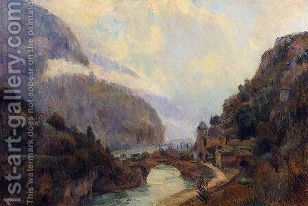 Saint Maurice (Valais) by Albert Lebourg - Reproduction Oil Painting