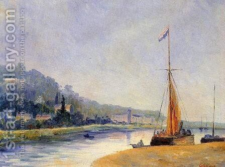 Banks of the River by Albert Lebourg - Reproduction Oil Painting
