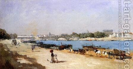 The Banks of the Seine at Bercy by Albert Lebourg - Reproduction Oil Painting