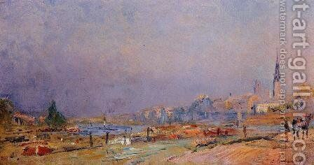 The Banks of the Seine at Rouen by Albert Lebourg - Reproduction Oil Painting