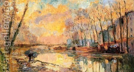 The Canal at Charenton by Albert Lebourg - Reproduction Oil Painting