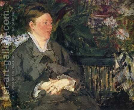 Madame Manet in the Conservatory by Edouard Manet - Reproduction Oil Painting