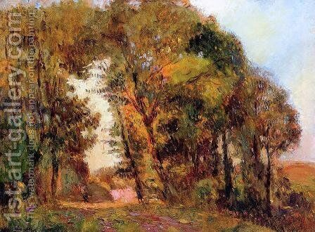 The Forest in Autumn near Rouen by Albert Lebourg - Reproduction Oil Painting