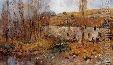 Mill in Normandy by Albert Lebourg - Reproduction Oil Painting