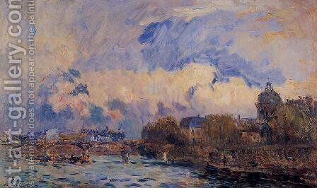 Paris, the Seine at Pont des Arts and the Institute by Albert Lebourg - Reproduction Oil Painting