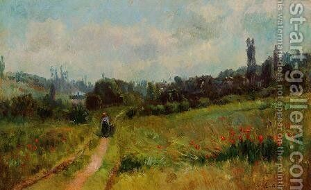 Vetheuil Path, Morning Effect by Albert Lebourg - Reproduction Oil Painting