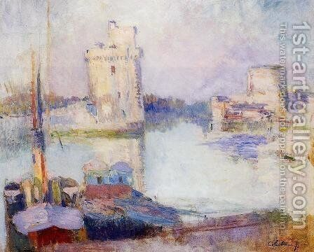 La Rochelle, the Port by Albert Lebourg - Reproduction Oil Painting