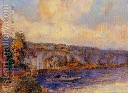 The Seine at La Bouille by Albert Lebourg - Reproduction Oil Painting