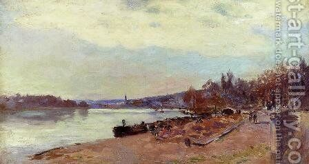 The Seine at Suresnes by Albert Lebourg - Reproduction Oil Painting
