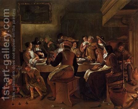 Twelfth Night I by Jan Steen - Reproduction Oil Painting