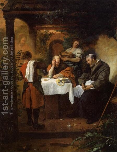 The Supper at Emmaus by Jan Steen - Reproduction Oil Painting