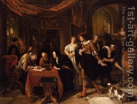 The Wedding of Tobias and Sarah by Jan Steen - Reproduction Oil Painting