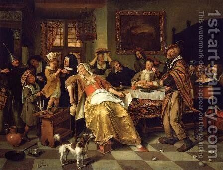 Twelfth Night II by Jan Steen - Reproduction Oil Painting