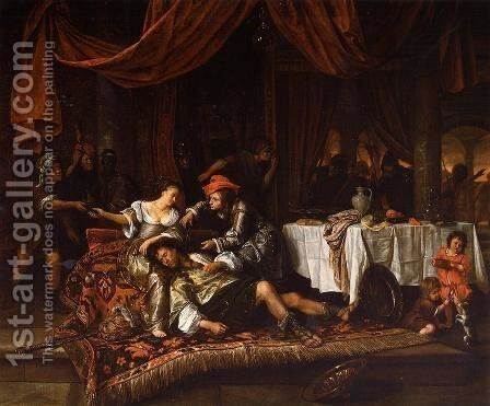 Samson and Delilah by Jan Steen - Reproduction Oil Painting