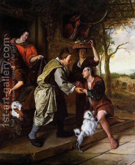 The Return of the Prodigal Son by Jan Steen - Reproduction Oil Painting