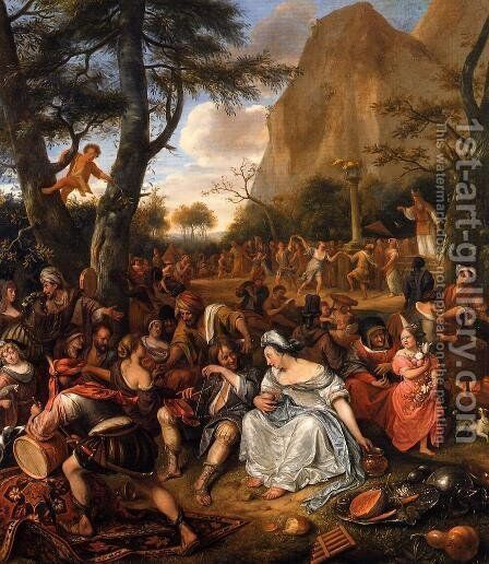 The Worship of the Golden Calf by Jan Steen - Reproduction Oil Painting
