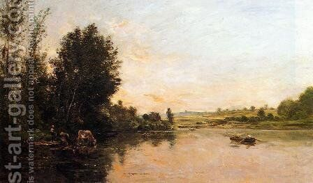 Sand Quarries near Valmondois by Charles-Francois Daubigny - Reproduction Oil Painting