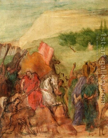 The Daughter of Jephta (study) by Edgar Degas - Reproduction Oil Painting
