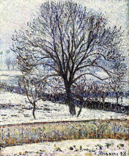 The Thaw, Eragny by Camille Pissarro - Reproduction Oil Painting