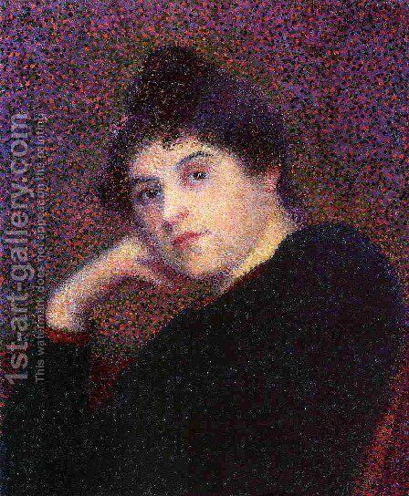 Portrait of a Woman by Hippolyte Petitjean - Reproduction Oil Painting