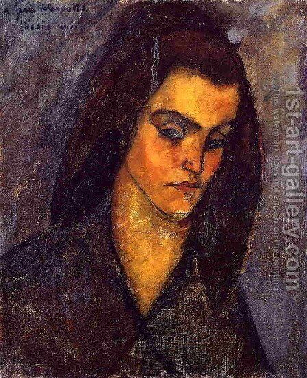 Beggar Woman by Amedeo Modigliani - Reproduction Oil Painting