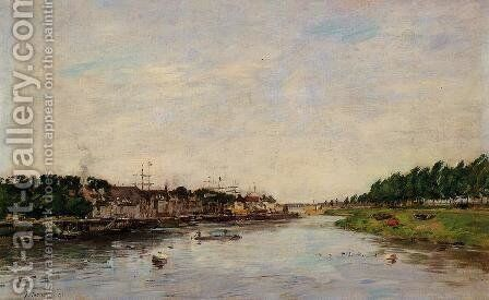 Entrance to the Port of Saint-Valery-sur-Somme by Eugène Boudin - Reproduction Oil Painting