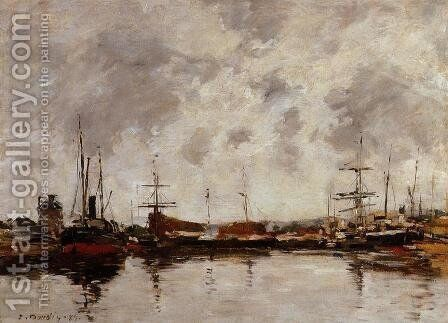 Deauville, the Harbor II by Eugène Boudin - Reproduction Oil Painting