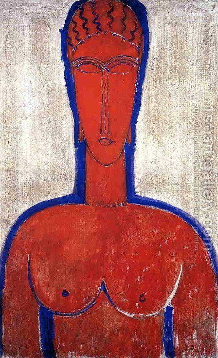 Big Red Buste by Amedeo Modigliani - Reproduction Oil Painting