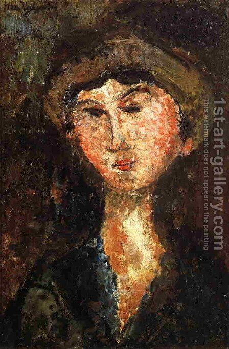 Beatrice Hastings by Amedeo Modigliani - Reproduction Oil Painting