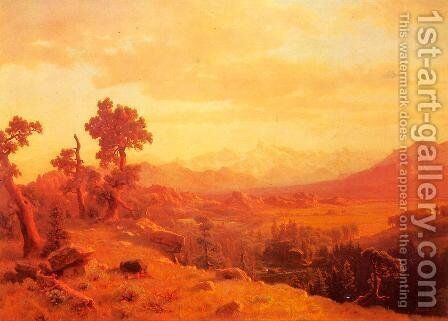 Wind River Country I by Albert Bierstadt - Reproduction Oil Painting